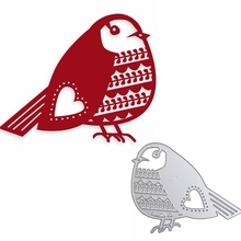 Unique Bird Metal Cutting Dies Hollowed With Heart Die Cuts For Card Making DIY Scrapbook New 2019 Embossed Crafts Cards