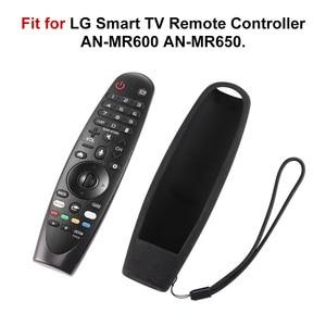 Image 2 - Lg 스마트 tv 리모컨 AN MR600 magic remote control cases sikai 스마트 oled tv 보호 실리콘 커버