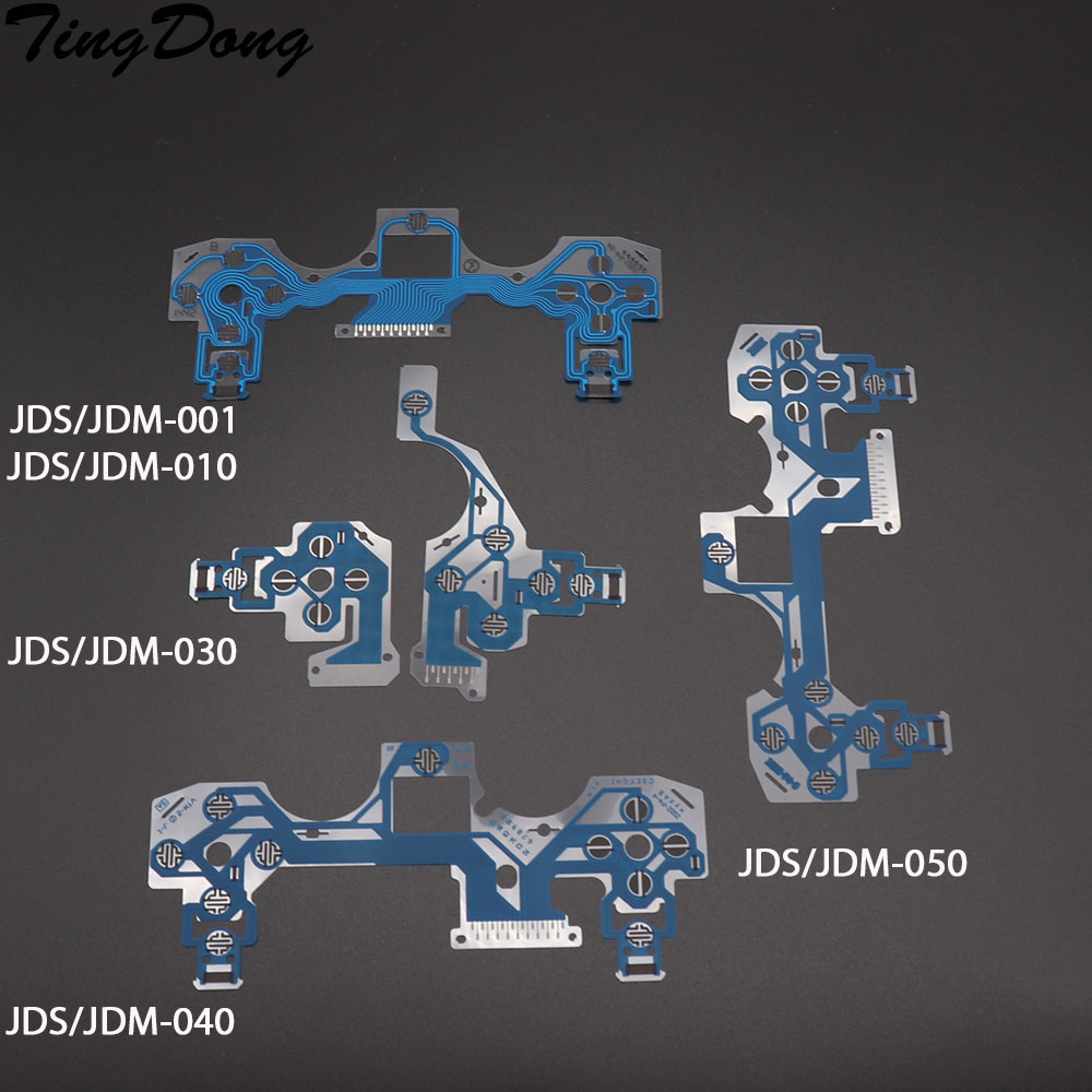 For Dualshock 4 PS4 DS4 PRO Slim Controller Conductive Film Conducting Blue Film Keypad Flex Cable JDM 050 040 030 010