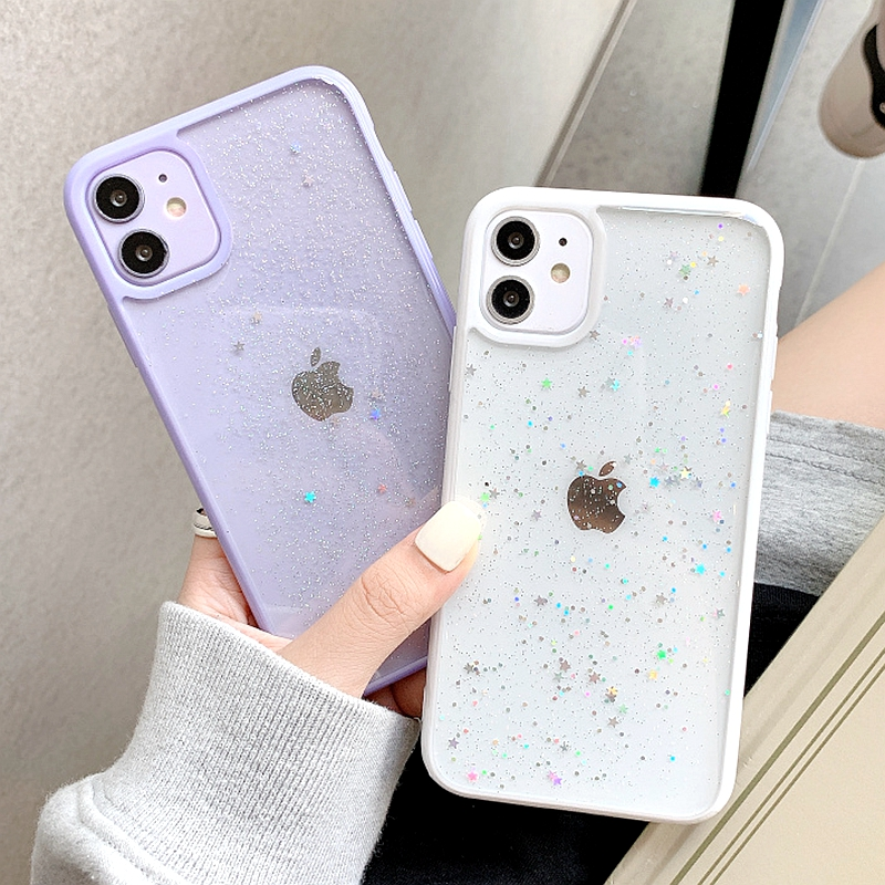 Twinkle Candy Transparent Phone Case For iPhone 11 12 13 mini Pro Max XS X XR 7 8 6 6S plus SE 2020 Soft Shockproof Cases Cover