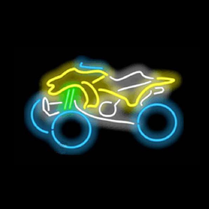 ATV All-terrain Vehicle Neon Sign Custom Handmade Real Glass Off-road Sport Cars Bike Racing Company Display Neon Signs 19X12 image