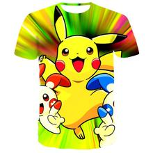 Men Dragon Ball Pokemon Detective Pikachu 3D Print t shirts Mens  cartoon Dinosaur tshirt Harajuku tops 2019 new movie tees
