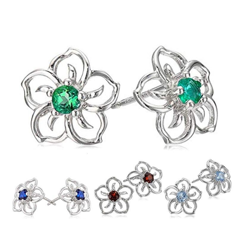 Huitan Fashion Hollow Out Flower Design Women Stud Earring Romantic Wedding Bridal Earring Daily Wear Versatile Earrings Jewelry