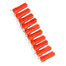 10 Pcs 1 LED 12V T5 5050 SMD Car Wedge Side Lamp Turn Tail Red Bulb Lamp NR-shipping(China)