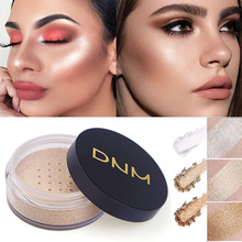 3 Colors Makeup Powder Oil-control Loose Powder Concealer  Face Bronzer Waterproof Facial Highlight Contour Skin Finish Powder