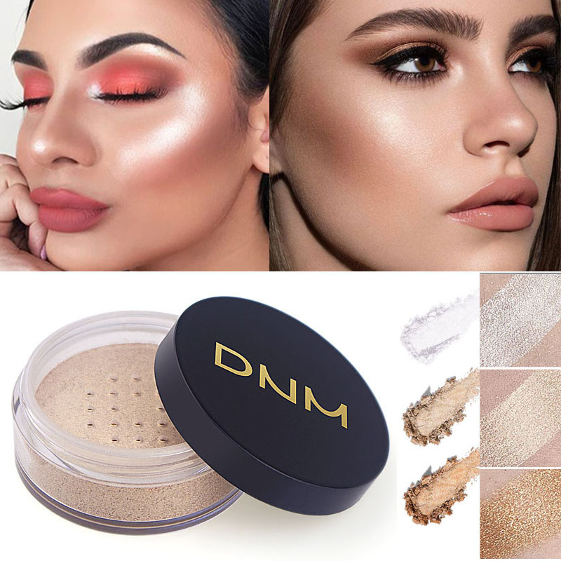 3 Colors Makeup Powder Oil-control Loose Powder Concealer Face Bronzer Waterproof Facial Highlight Contour Skin Finish Powder image