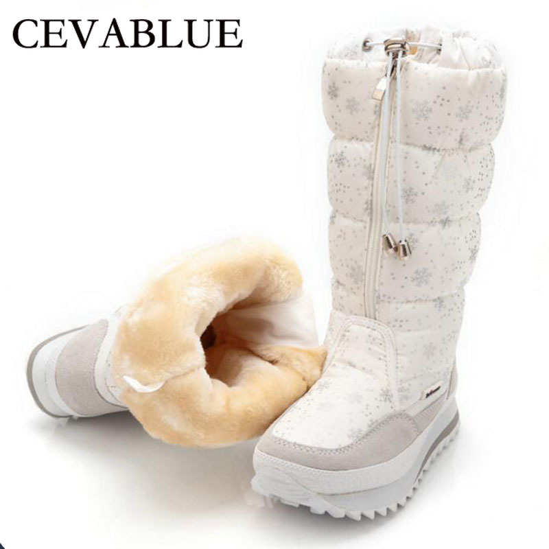 Women Boots Zipper Warm Waterproof Snow-Botas Winter Ladies 35-43 JSH-M0767 Plush EVA