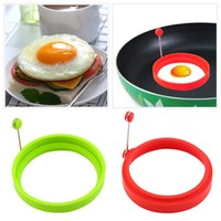 Fried Egg Mould Pancakes Molds Nonstick Stainless Steel Handle Round Egg Rings Shaper crab cake salmon tuna patty 10X10X6.5cm