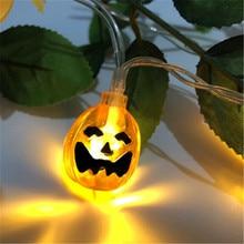 Halloween LED Pumpkins Decor String Lights Lanterns Lamp DIY Home Supplies Ghost Festival Garden  Party Decoration Yard Lantern