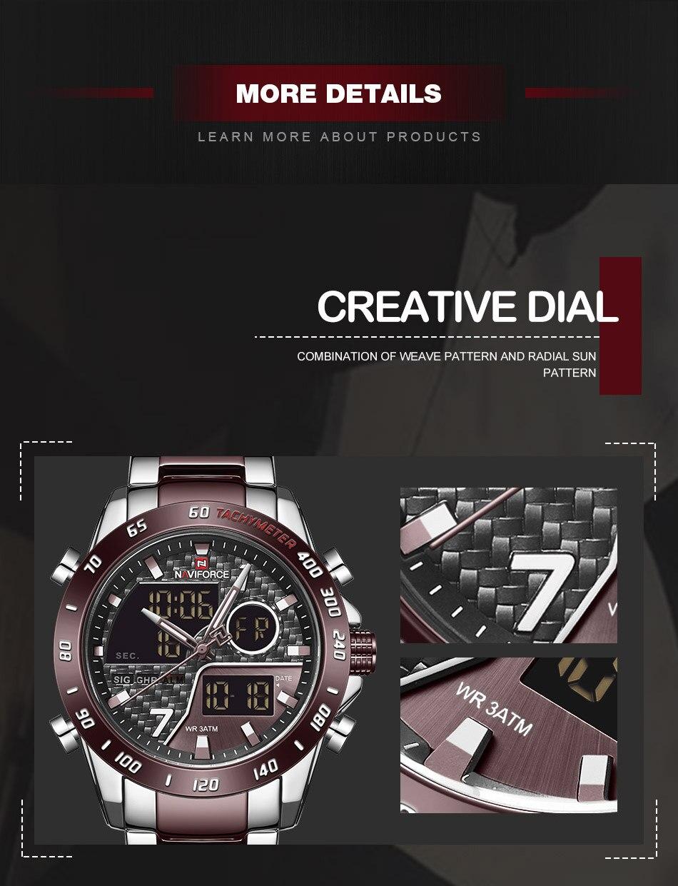Hab6ca3b9c0e44db9aead64f5dd0973998 NAVIFORCE Men Digital Watch LED Sport Military Mens Quartz Wristwatch Male Luminous Waterproof Clock Watches Relogio Masculino