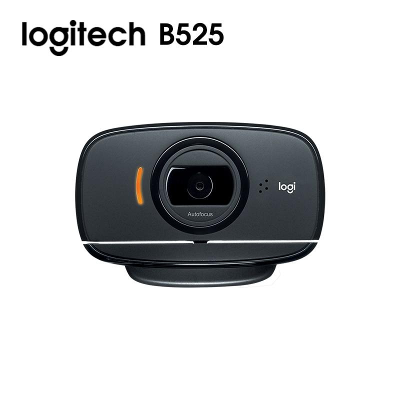 Original logitech C525 / B525 Foldable Business Webcam with 360 Degree Swivel Design Video  Autofocus  Web Cam USB Camera 2
