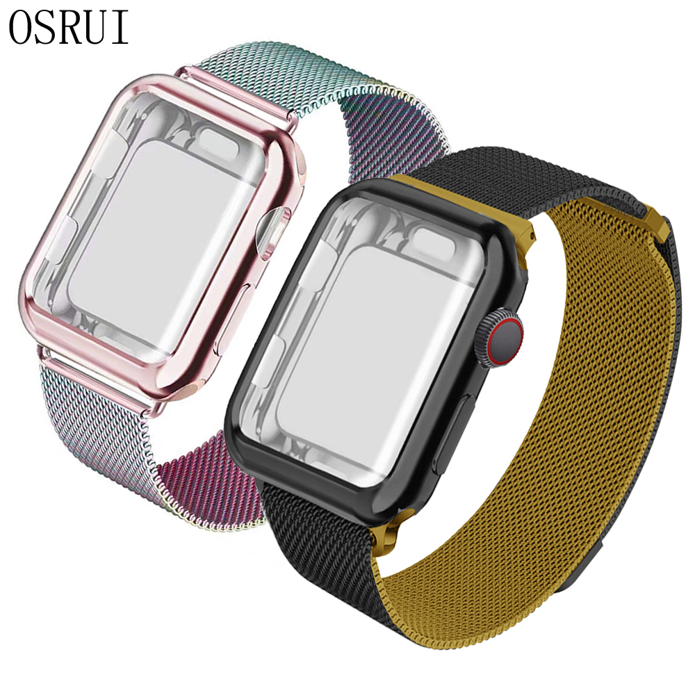 Milanese Loop Band For Apple Watch Series 5/4/3/2 Stainless Steel Strap Wrist Bracelet For Iwatch Case 40mm 44mm 38mm 42mm