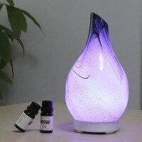 Glas Ultraschall-luftbefeuchter Aromatherapie Öl Diffusor Led licht Kühlen Nebel-luftbefeuchter Aroma Duft Maschine 100ml