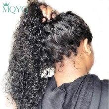 MQYQ 360 кудрявые человеческие парики на кружеве для женщин черные бразильские не Реми парики на кружеве натуральный цвет