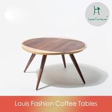 Луи моды столы для кафе Fuyun нордический дизайн Массив ореха кофе низкие татами
