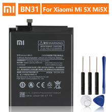 Orijinal yedek pil için Xiaomi Mi 5X Mi5X BN31 Xiaomi Redmi not 5A Xiaomi A1 Redmi Y1 Lite S2 hakiki pil 3080mAh