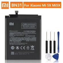 แบตเตอรี่ทดแทนสำหรับXiaomi Mi 5X Mi5X BN31 Xiaomi Redmiหมายเหตุ5A Xiaomi A1 Redmi Y1 Lite S2ของแท้แบตเตอรี่3080MAh