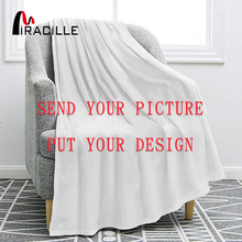Miracille Customized Flannel Blanket Plush Personalized Blankets for Beds POD Custom DIY Thin Quilt Sofa Cover Drop Shipping