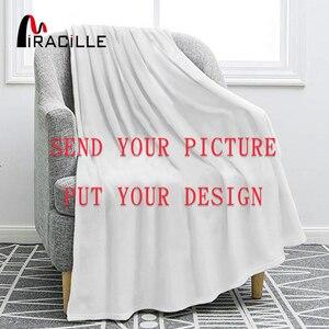 Image 1 - Miracille מותאם אישית פלנל שמיכת קטיפה אישית שמיכות עבור מיטות POD מותאם אישית DIY דק שמיכת ספה כיסוי זרוק חינם