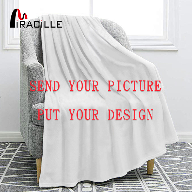 Miracille מותאם אישית פלנל שמיכת קטיפה אישית שמיכות עבור מיטות POD מותאם אישית DIY דק שמיכת ספה כיסוי זרוק חינם