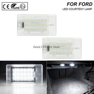 2pcs White LED Luggage Trunk Lights Lamp Error Free 12v 3w For Ford Focus 08~ Escort 90-99 Fiesta 89- MK1 facelift 02-05