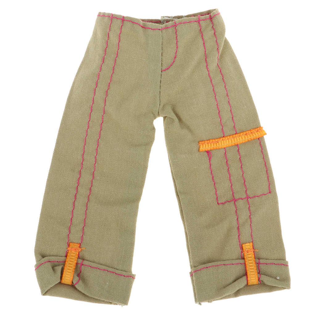 1/6 bambola Casual Pantaloni Pantaloni Per 30 centimetri Bambola BJD Dress Up Abbigliamento Acc Army Green