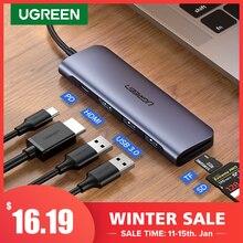 Сетевой концентратор Ugreen, переходная док-станция USB Type C USB 3.0 HDMI, разветвитель, концентратор Type C для MacBook Pro, Huawei Mate 30
