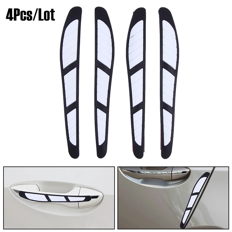 VODOOL 4Pcs/Lot Car Door Edge Guard Strip Scratch Protector Anti-collision Trim Anti-rub Car Door Edge Guards Molding Protection