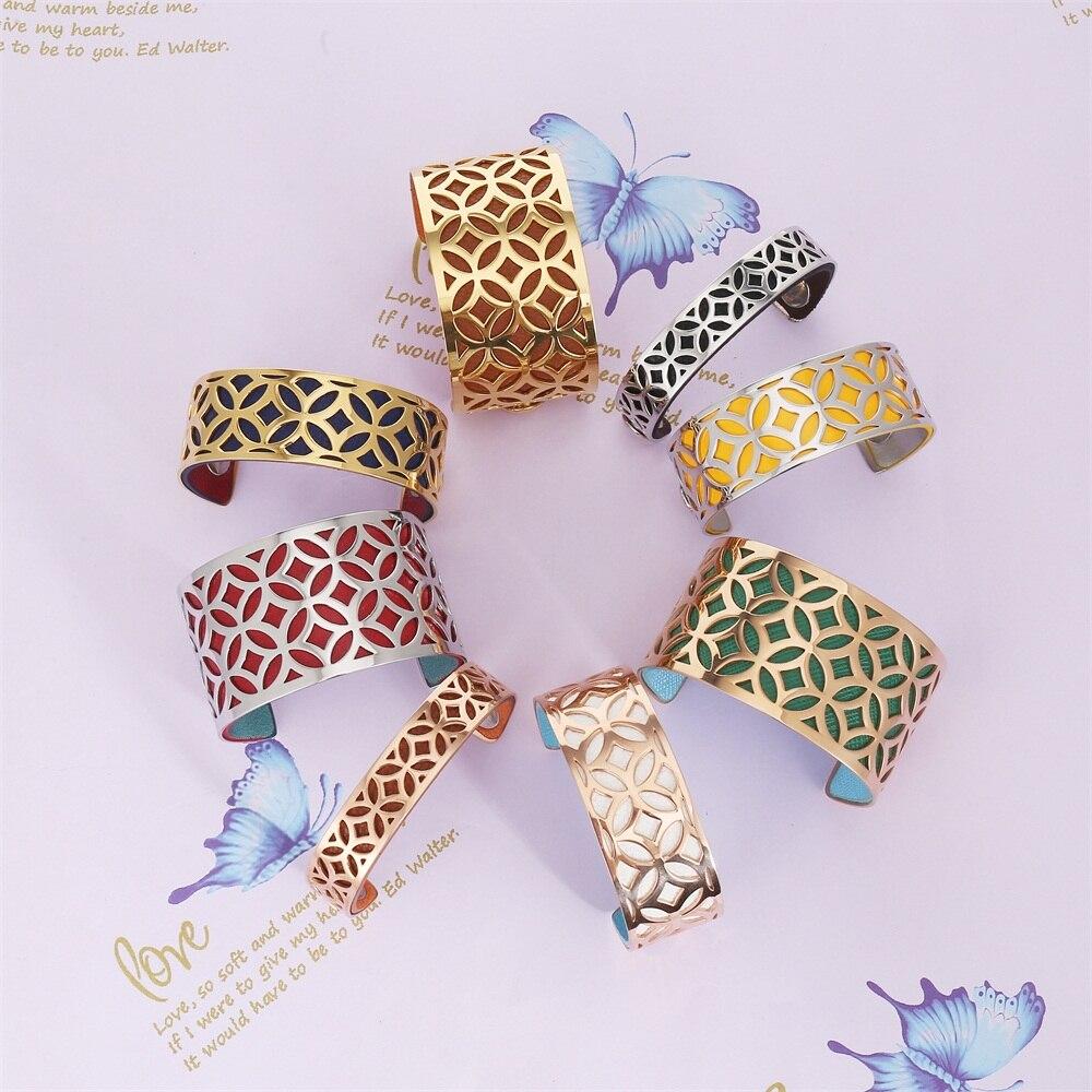 Cremo géométrie bras Manchette Bracelets & Bracelets femmes minimaliste acier inoxydable Bracelet Argent Femme Manchette Bracelet Pulseras