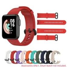 สายคล้องคอสำหรับ XiaoMi Mi นาฬิกา Lite RedMi นาฬิกาสายคล้องคอกีฬานาฬิกาซิลิโคนอ่อนสายรัดข้อมือ