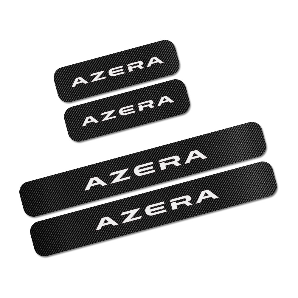 4 шт. наклейки на пороги автомобиля для hyundai Accent Tucson i40 i30 i10 i20 Veloster IX35 IX20 Elantra Solaris Genesis GDi аксессуары - Название цвета: Azera