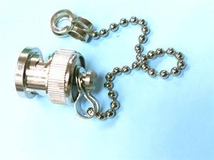 20 шт Латунь BNC Женский защитный Пылезащитный колпачок с цепью для радиочастотного коаксиального адаптера