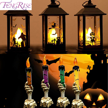 Electric Halloween Candle Lamp  Pumpkin Witch Ghost Halloween Candle Lamp Light Halloween Decor For Home Horror Hallowen Party halloween cartoon doll pumpkin witch cat party ideal decoration for club bar shop home showcase bar table shelf holiday decor