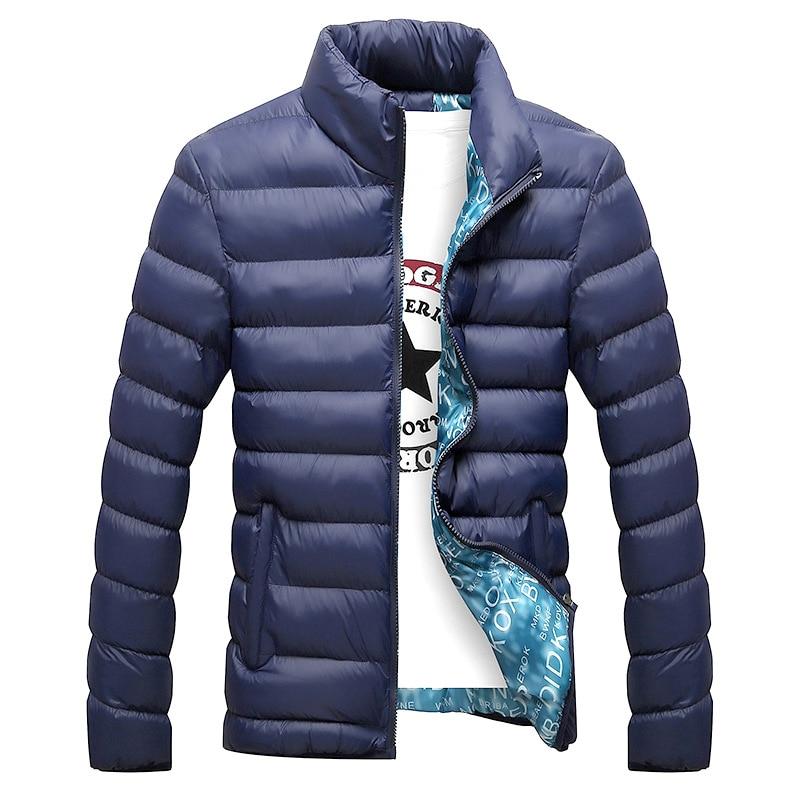 Winter Jacket Men Outdoor Stand Collar Male   Parka   Jacket Mens Solid Thick Jackets Coats Man Winter   Parkas   Casaco Masculino 6XL