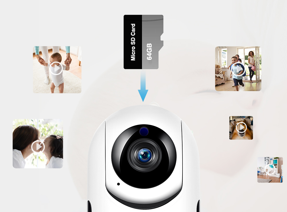 PTZ 360 Degrees Home Security 1080P Wifi Camera