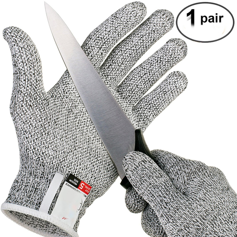 Cut-Proof Gloves Hunting Anti-Stab-Proof Stainless Steel Wire Rope Metal Mesh Anti-Cutting Gloves