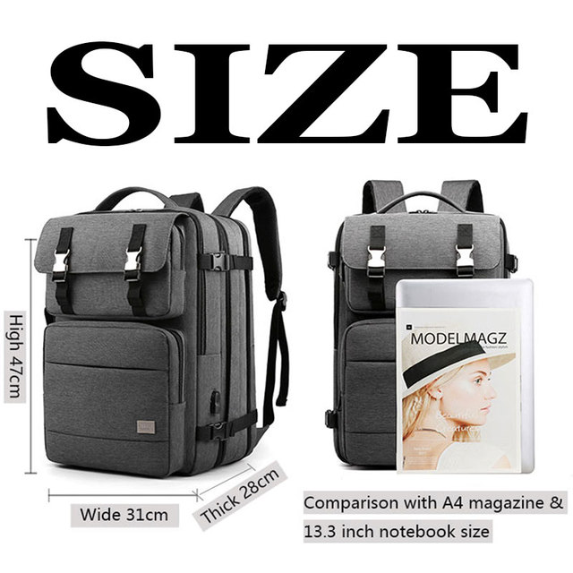 Men Backpacks Waterproof Bag Bags and Wallets Unisex color: Black|Blue|Dark Gray|Gray
