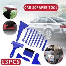 13Pcs Auto Vinyl Wrapping Gereedschap Auto Sticker Film Schraper Kit Auto Viltje Set Plastic Accessoires Groothandel Dropshipping