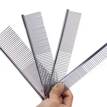 Stainless Steel Comb Hair Brush Shedding Flea For Cat Dog Pets Trimmer Grooming Pet Supplies