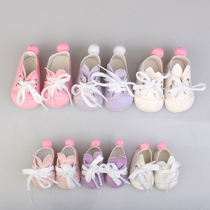 1PCS PU Leather Sports Shoes For 1/6 BJD Doll 14.5inch girl dolls Fashion Mini Toy shoes EXO Doll Accessories(China)