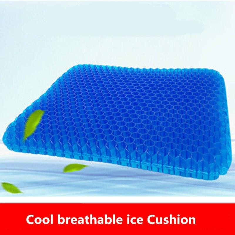 2019 cojín de asiento almohada antideslizante Silla de nido de abeja transpirable evita que el cojín de asiento suave asiento sudoroso inferior silla de ruedas de coche de oficina