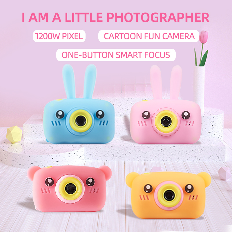 Digital SLR Mini Kids Camera 2.0 Inch IPS Screen Children Video Photo Camera Educational Toys For Game Study Gift Birthday