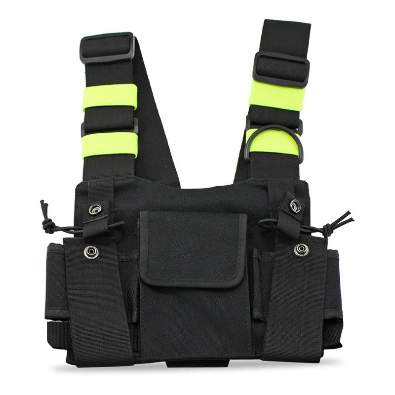 BESTRadios Pocket Radio Chest Harness Chest Front Pack Pouch Holster Vest Rig Carry Case For 2 Way Radio Walkie Talkie For Baofe