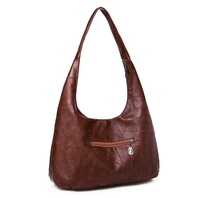 Фото винтажные сумки хобо женские большие мягкие лоскутные кожаные цена