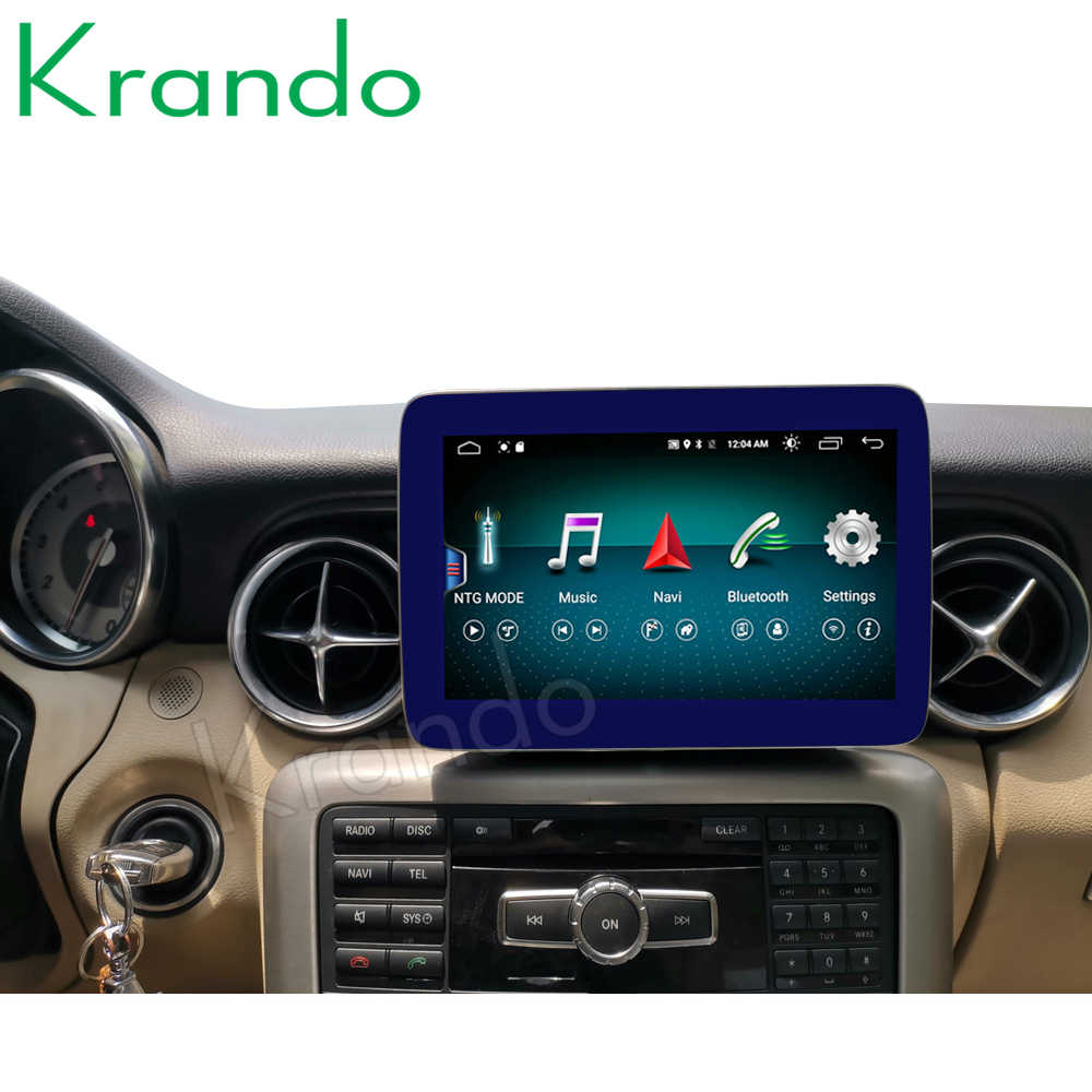 Krandoアンドロイド 10.0 9 ''4 グラム 64 3gカーラジオメルセデスベンツslk ml gl gls gle 2011-2018 ntg 4.5 5.0 マルチメディアオーディオbluetooth