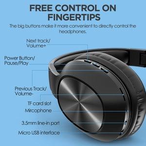 Mixcder HD901 Kopfhörer Drahtlose Bluetooth 5,0 TF Karte Headset Über Ohr Earbuds mit Mikrofon für Sport Musik Kopfhörer