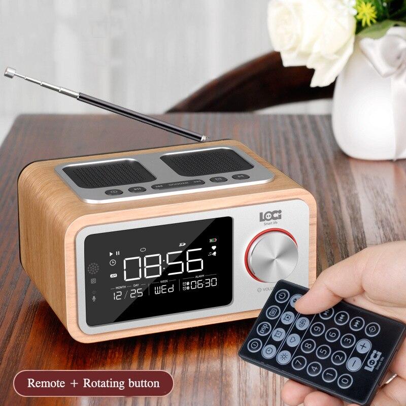 LOCI H3 bluetooth Radio haut-parleur réveil médias Audio musique horloge Radio LED affichage USB charge lecteur MP3 télécommande