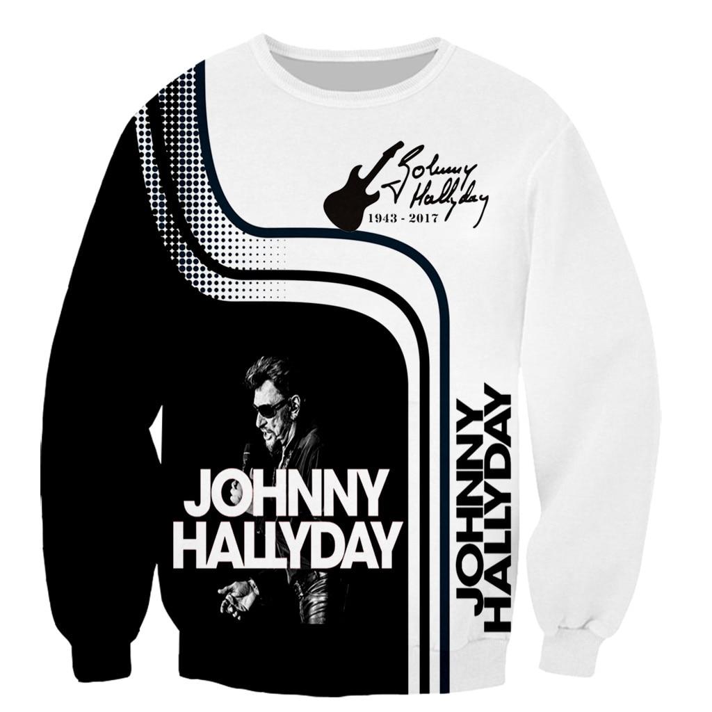 Новое поступление, популярная французская футболка с 3D принтом Джонни Хелли, мужские и женские модные футболки/толстовки/свитшоты/жилеты/т...