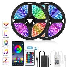 Goodland LED bande 12V ruban lumière LED bande RGB SMD 5050 2835 Flexible 5M 10M Diode bande avec rétro-éclairage à distance pour TV