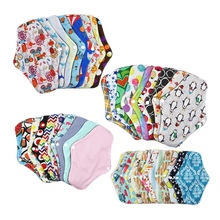 5Pcs Lady Reusable Cloth Pads With Bamboo Cotton Inner, Cloth Day Night Pads Menstrual Pad Sanitary Pads Anti-Side Leakage